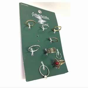Wild Fable | NWT 9 piece Assorted Size Ring Set